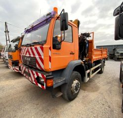 "MAN LE 18.220 4x4 ""tipper with crane"""